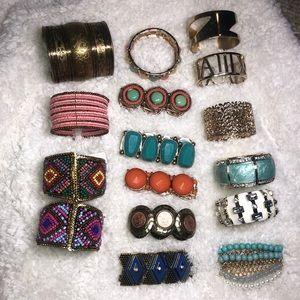 BUNDLE 15 Charming Charlie bracelets variety
